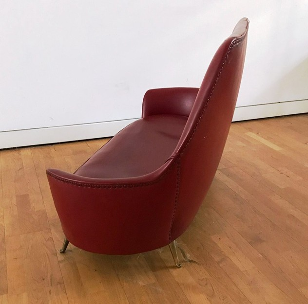 1950s Two Seater Sofa by Isa -moioli-gallery-divanetto ISA rosso asta 5_main_636488770012729299.JPG