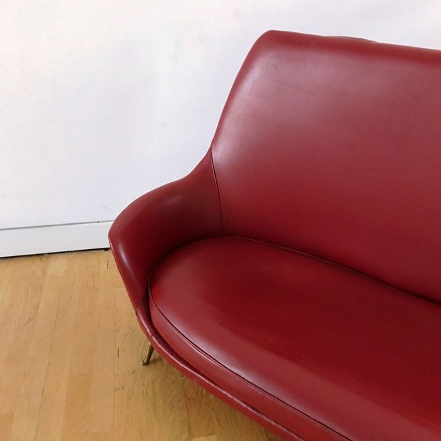 1950s Two Seater Sofa by Isa -moioli-gallery-divanetto ISA rosso asta 6_main_636488770205399179.JPG