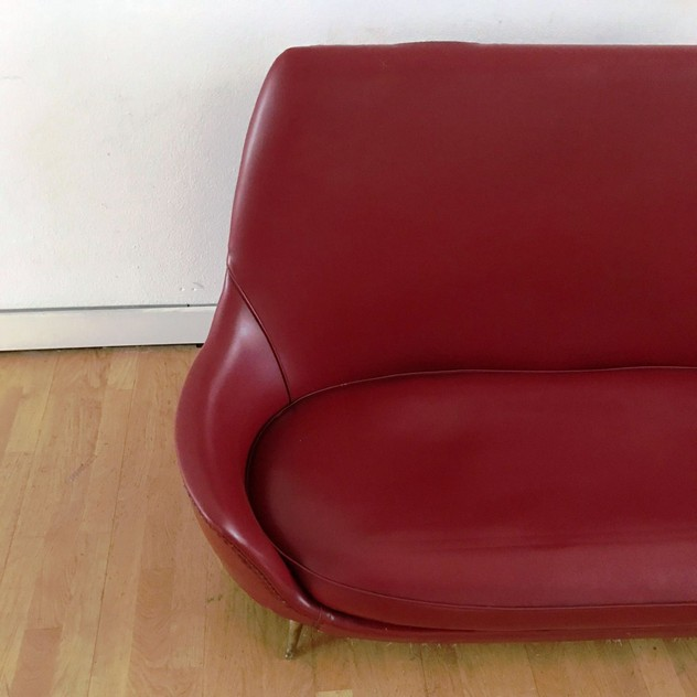 1950s Two Seater Sofa by Isa -moioli-gallery-divanetto ISA rosso asta 8_main_636488770479505235.JPG