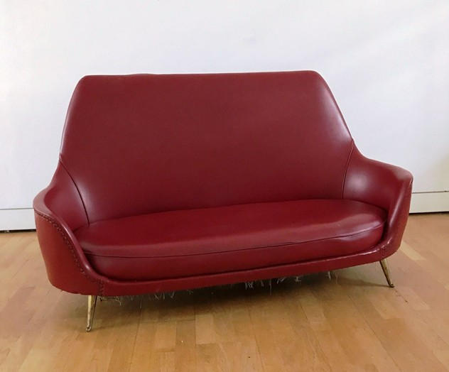 1950s Two Seater Sofa by Isa -moioli-gallery-divanetto ISA rosso astaD 72  W158 H schiena 76_main_636488770354542827.JPG