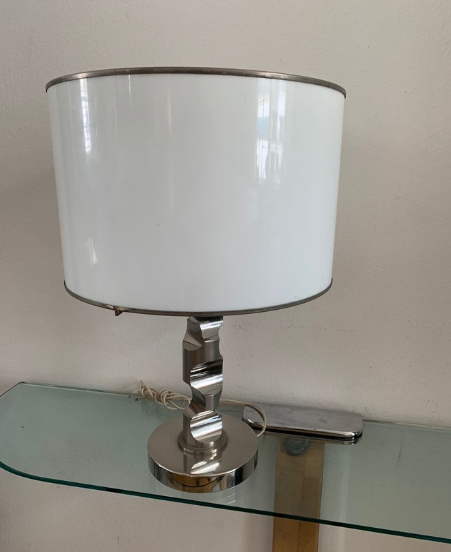 1960s Table Lamp in Solid Medal and Acrylic-moioli-gallery-lampada-acciaio-pesante-cappello-plexy-7-main-637001769754183772.jpg