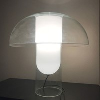 1980s Table Lamp in Blown Glass