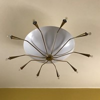 1950s Italian Ceiling Light  /Flush Mount