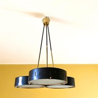 1950s Rare Stilnovo Ceiling Light