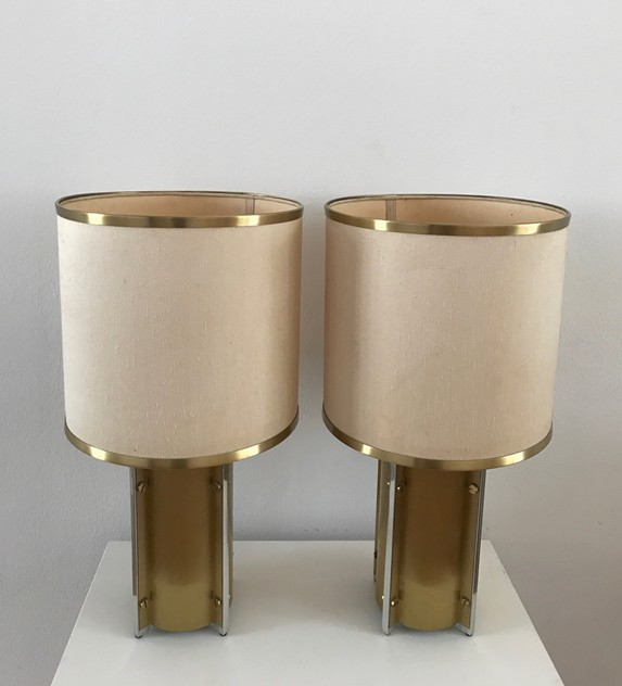 1970s Pair Table Lamps by Sciolari-Roma-moioli-gallery-lampade Sciolari ottone coppia 1_main_636397020948624799.jpg