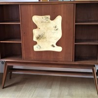 1950s Dry Bar and Book Case Cabinet