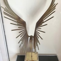Abstract Welded Bird Sculpture by Curtis Jere