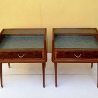 Late 40s Italian Bed Side Tables