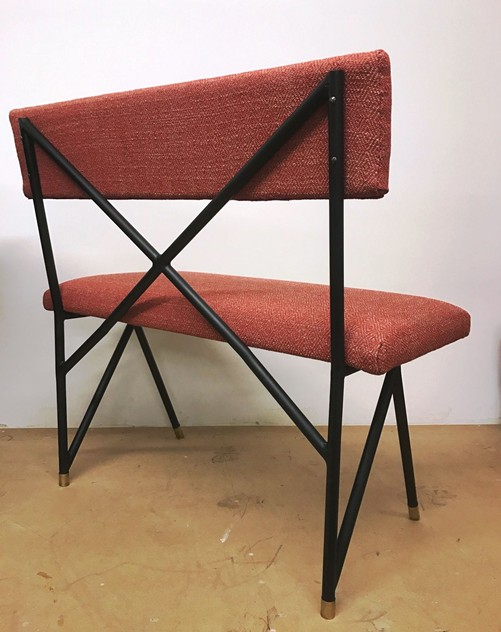 1950.s Small Bench in Iron-moioli-gallery-panchetto ferro e rosso 4_main_636256100694692916.JPG