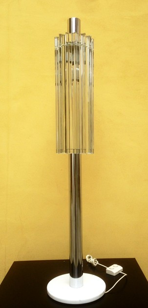 1970's Rare Floor Lamp Venini's Trilobo Glasses -moioli-gallery-piantana bassa cromo e vetro bella  h 140 by 30 diam. 14 glasses 60 cm long_main_635965871589970935.jpg