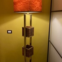 70s Italian Floor Lamp with Flower Boxes