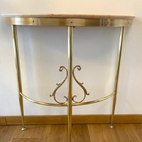 Small Half Round mid centry Console table