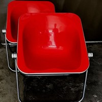 1960s Plona Folding Armchair in Red acrylic