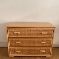 1970s Wicher Chest of Drawers