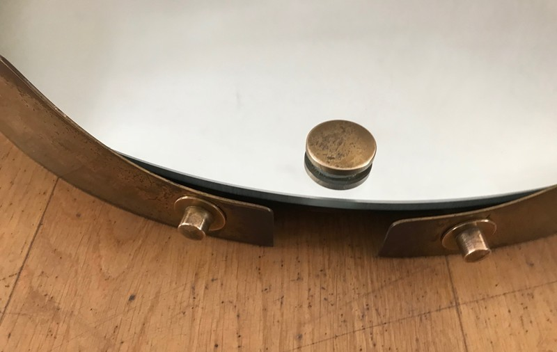 1950s Round Mirror in Brass -moioli-gallery-round 50s mirror brass 2-main-636712359596902513.jpg