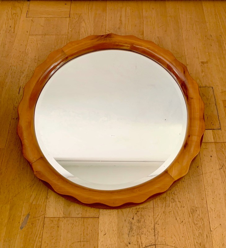 1940s Rare Round Mirror attr. to Marelli Cantu'-moioli-gallery-round-mirror-40s-incherry-wood-5-main-636988948610085414.jpg