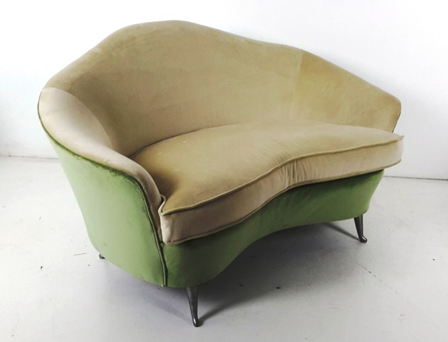 1950s Small armchairs and Sofa by I.S.A-moioli-gallery-salotto piccolo verde giallo divanetto_main_636196676881370328.jpg