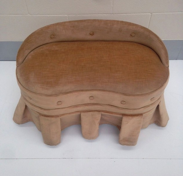 1940s Curved Small Bench / Low Stool-moioli-gallery-small bench pouff loredana.2_main_636247661343601855.JPG