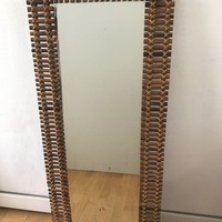 Late 1950s bamboo mirror