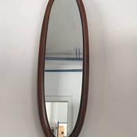 1960s Long Ply Rosewood Mirror