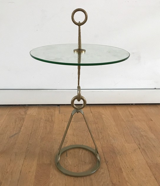1960s Round Side table in Gilded Iron-moioli-gallery-tavolino da fumo ferro dorato 5_main_636451335231216658.jpg