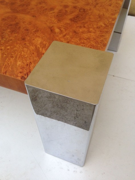 1970's Coffee Table in Chrome and Briar Root-moioli-gallery-tavolino radica e cromo fabrizio 2_main_635986624124516141.JPG