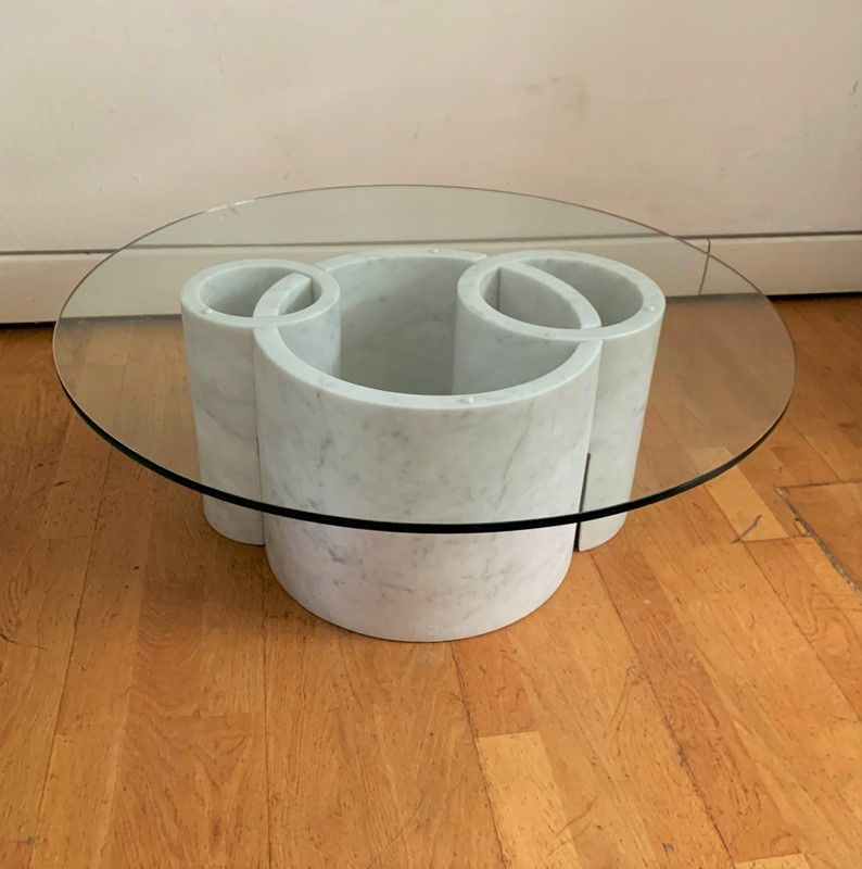 1970s Sculptural  Marble Round Coffee Table -moioli-gallery-tavolino-marmo-carrara-e-vetro-main-637117438177035092.jpg