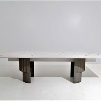 1970s Large Dining Table by Giovanni Offredi
