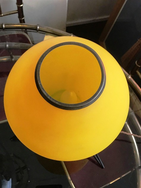 1950's Yellow Glass Table Lamp-moioli-gallery-yellow 50s table lamp 4_main_636213853190913198.JPG
