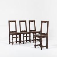 18th Century French Oak 'Nun's' Chairs