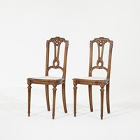 Pair of 19th Century Continental Gilt Side Chairs
