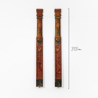 Very Tall Pair of Painted Fairground Columns