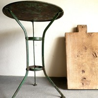 Small French iron garden table