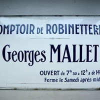 french enamel trade sign