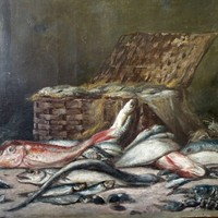 19th century still life with fish