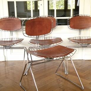 4 original  'Beaubourg' chairs by Michael Cadestin