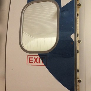 Upcycled airplane door