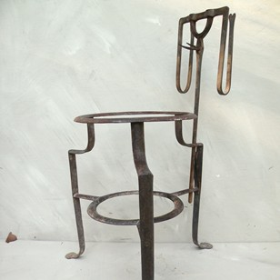 Regency wrought iron fire stand