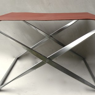 Original PK91 folding stool by Paul Kjaerholm