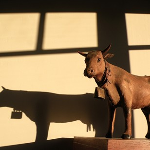 Charming 19th century toy model of a Cow