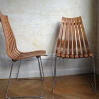 pair of Hans Brattrud  Scandia Rosewood chairs