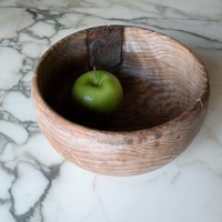 French Alpine wooden bowl