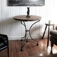 French wrought iron bistro table