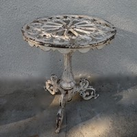 Ornate cast iron occasional table