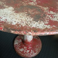 beautiful and rare circular metal Tolix  table
