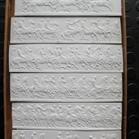 6 plaster casts of the parthenon frieze by Henning