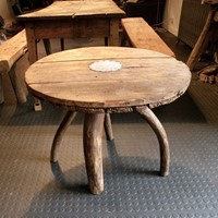 rustic low pine  table
