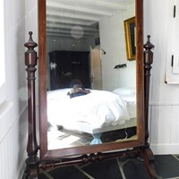 Exceptionally large  Mahohany cheval mirror