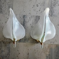2 pairs of murano glass wall lights by Franco Luce