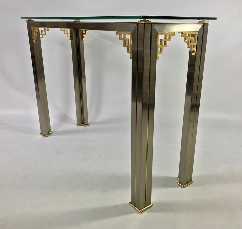 """Chinese"" Steel & Brass Console Table.-muir-fullsizeoutput_18f9-main-636642322718687918.jpeg"